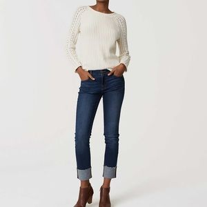 Modern Frayed Cuff Jeans